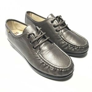 SAS Leather Hand Sewn Moc Toe LaceUp Oxfords Shoes